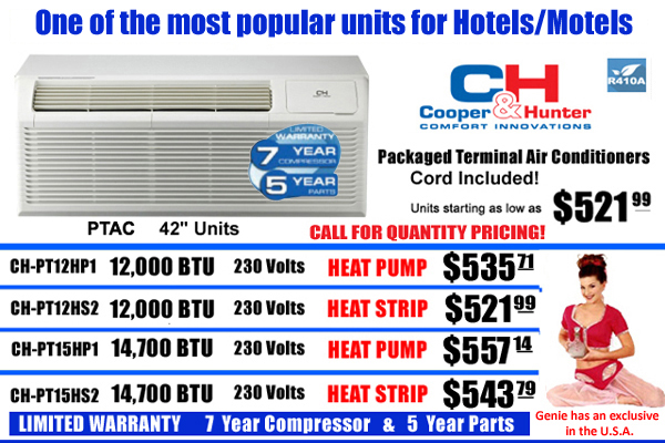 Hotel and Motel Air Conditioner Units